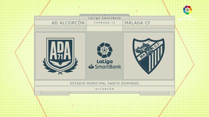 LaLiga SmartBank (J16): Resumen y goles del Alcorcón 1-0 Málaga