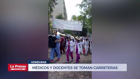 Médicos y docentes se toman carreteras y departamentales del país