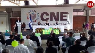 Partido Nueva Ruta de Honduras presenta planillas electorales ante el CNE