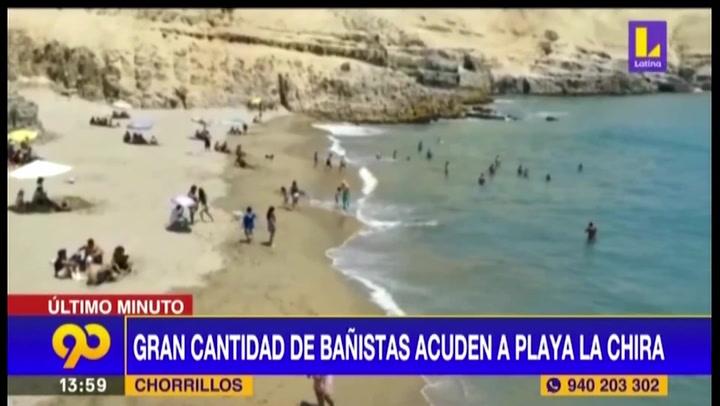 Chorrillos: Personas acuden a playa La Chira pese a que está prohibido salir los domingos