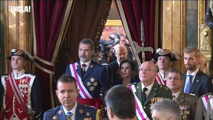 Los reyes Felipe y Letizia arrancan su agenda oficial de 2020 con la Pascua Militar