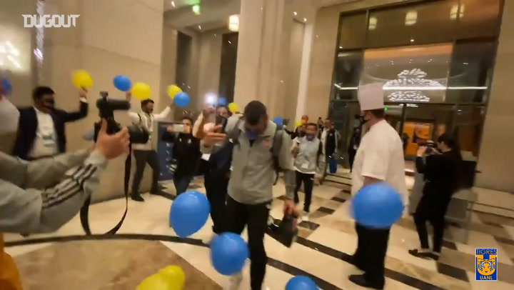 Tigres celebrate reaching the FIFA Club World Cup Final