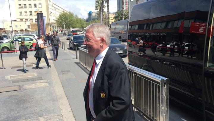 Ferguson, referente de United en la comida oficial con vistas privilegiadas de Barcelona