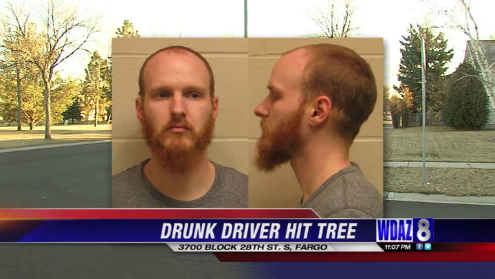Man in jail for DUI after crashing car into tree in south Fargo