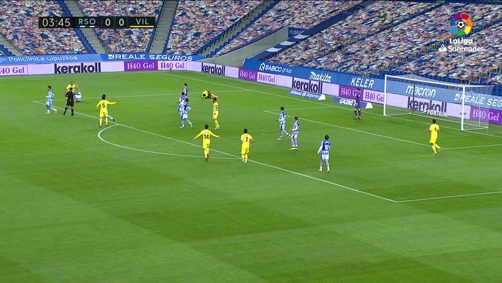 Gol de Gerard Moreno (p.) (0-1) en el Real Sociedad 1-1 Villarreal