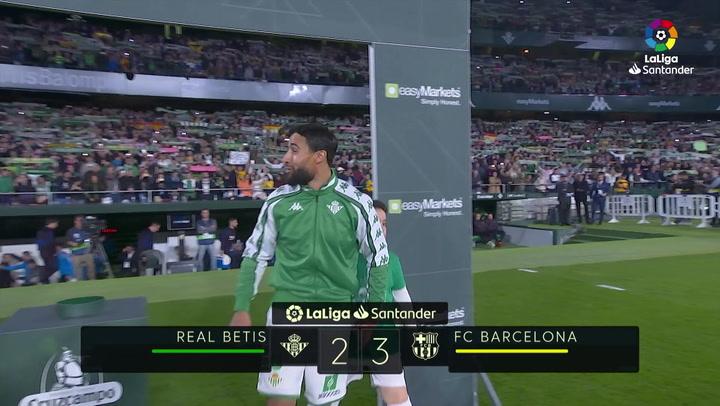 LaLiga (J23): Resumen y goles del Betis 2-3 Barcelona