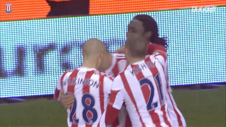 Stoke score three past Liverpool