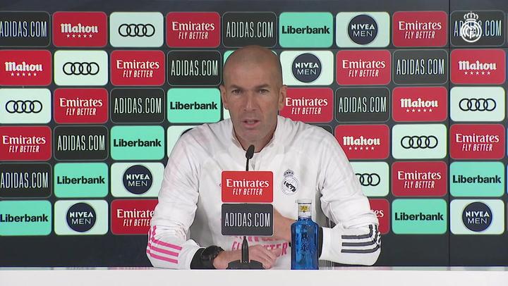"""Zidane: """"Queremos hacer un gran partido ante el Atlético, como el del miércoles"""