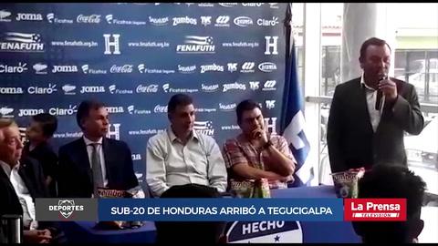 Sub-20  de Honduras arribó a Tegucigalpa tras clasificar al Mundial
