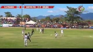Santos da la sorpresa y está derrotando al Pinares en Ocotepeque