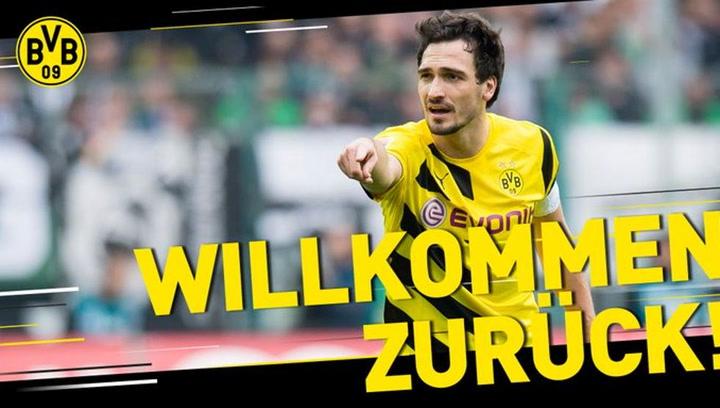 Hummels regresa al Borussia Dortmund