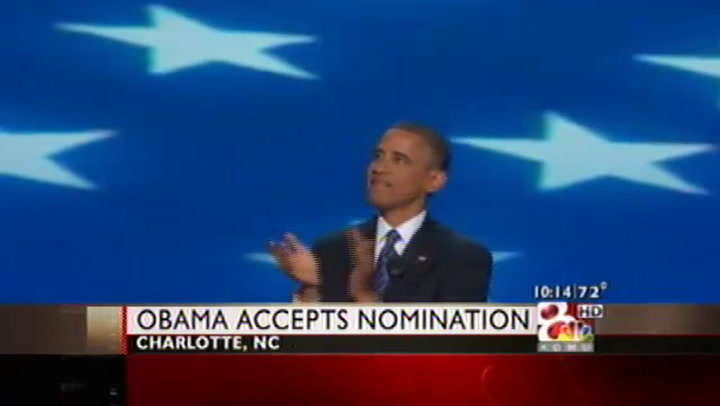 Obama Accepts Party\'s Nomination for Second Term