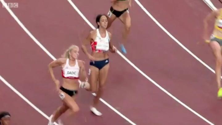 Katarina Johnson-Thompson's Olympic dream ends after heptathlon calf injury