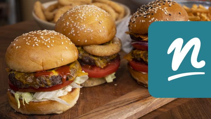 Hamburger Philips Airfryerben készítve videó