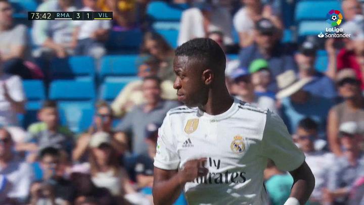 LaLiga: Real Madrid - Villarreal. Vinicius sustituye a Brahim Díaz