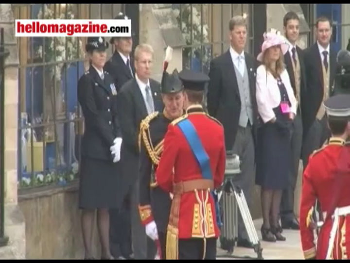 Princes William and Harry arrive