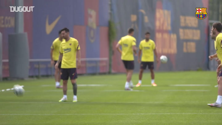 Barça's last training session ahead of Valladolid clash