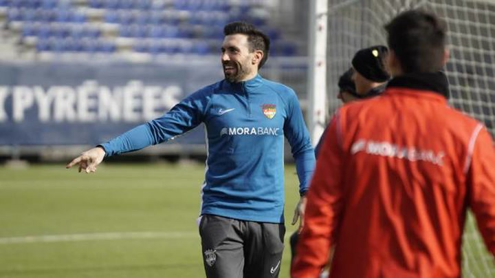 Eder Sarabia entrena al Andorra