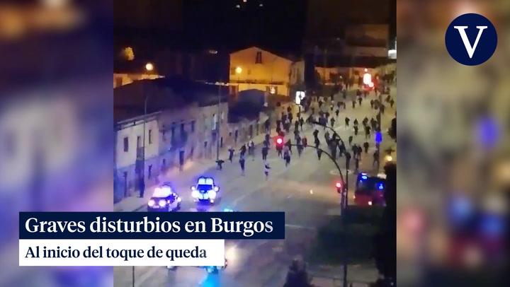 Graves disturbios en Burgos al inicio del toque de queda