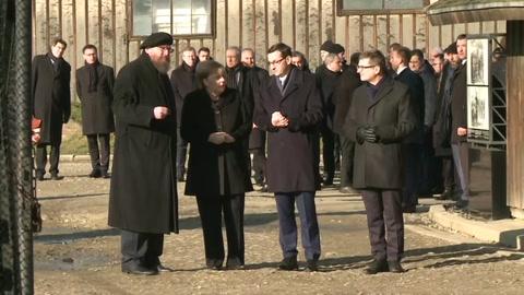 Histórica visita de Angela Merkel a Auschwitz