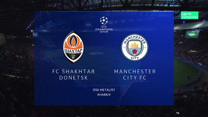 Champions League: Resumen y Goles del Partido Shakhtar Donetsk - Manchester City