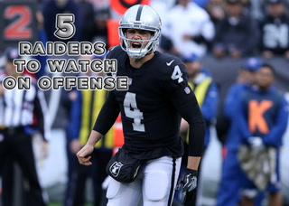 Five Raiders to Watch on Offense in 2019