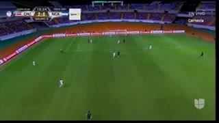 Celso Borges al minuto 19 con un derechazo de fuera del área le anota el 2-0 a Nicaragua.