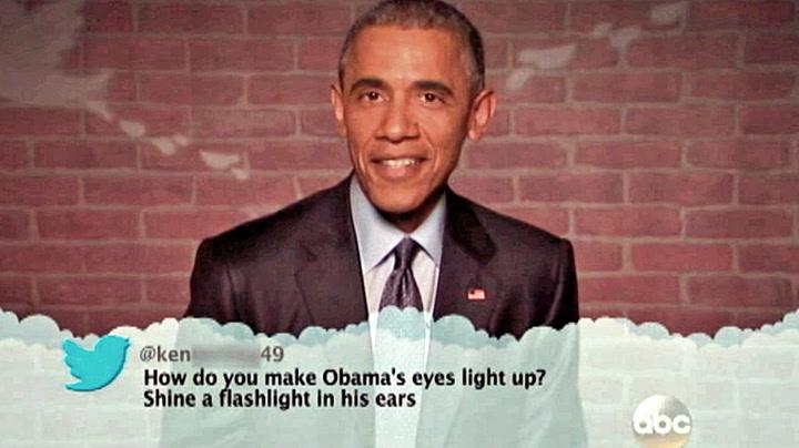 Obama leser stygge meldinger om seg selv