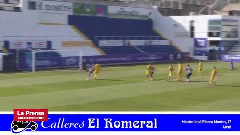 Jona Mejía marca un golazo en victoria del Alcoyano