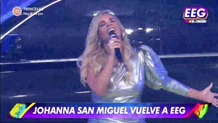 """Johanna San Miguel regresa como conductora de EEG: """"Estoy tan nerviosa y agradecida"""""""