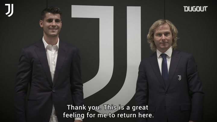 Alvaro Morata's first interview after Juventus return