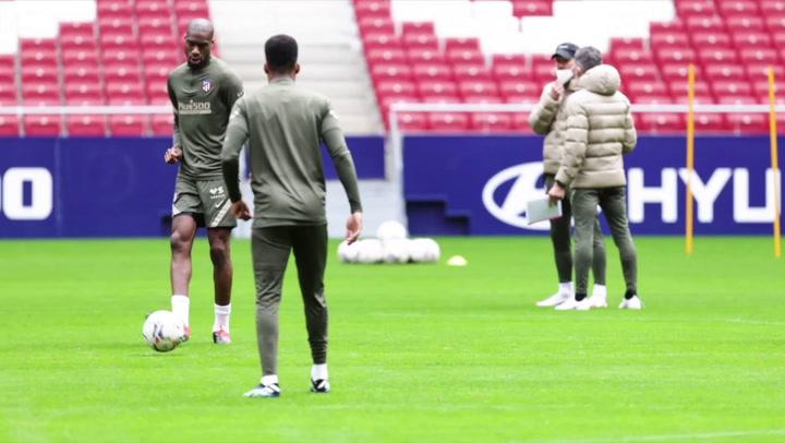 Entrenamiento del Atlético de Madrid en el Wanda Metropolitano