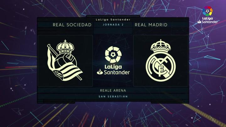 LaLiga Santander (Jornada 2): Real Sociedad 0-0 Real Madrid
