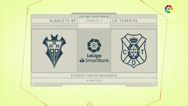 LaLiga SmartBank (J5): Resumen y goles del Albacete 0-4 Tenerife