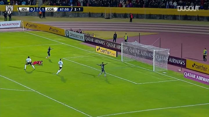 Jhon Sánchez's great run and goal vs Corinthians