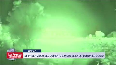 Difunden video del momento exacto de la explosión en ducto en México