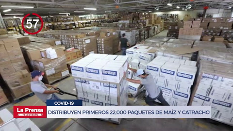 Avance Informativo: Distribuyen primeros 22,000 paquetes de Maíz y Catracho