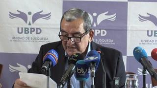 FARC entrega primer informe sobre 276 desaparecidos