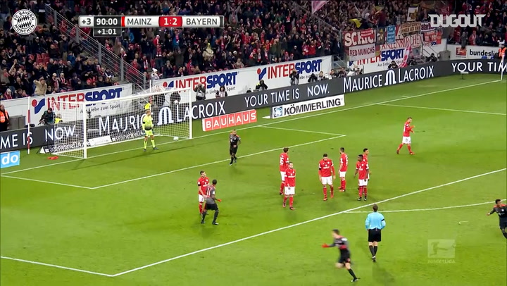 Lewandowski's Outstanding Free-Kick Vs Mainz