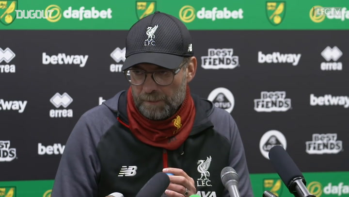Klopp looking ahead to Atlético with Norwich team selection