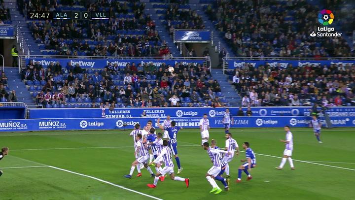 LaLiga: Alavés-Valladolid. Gol de Jony (2-0)