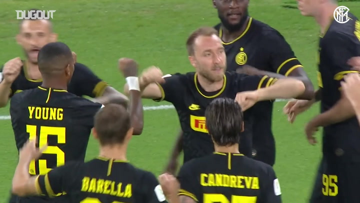 Christian Eriksen scores direct from a corner in Coppa Italia