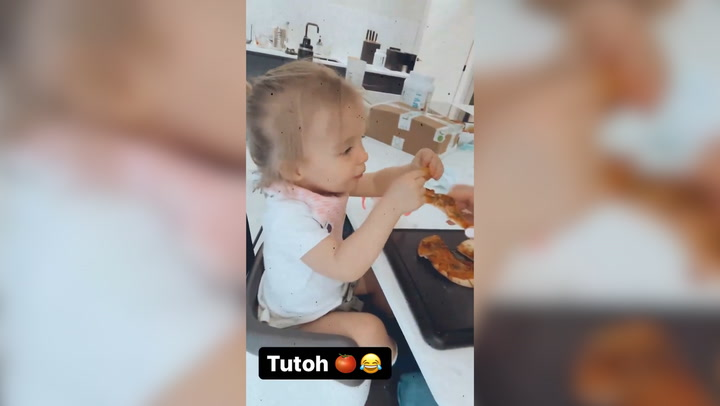 Gemma Atkinson\'s daughter Mia shows off love of food in adorable new video