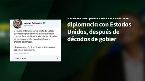 Bolsonaro arremete contra Biden por su amenaza sobre la Amazonía