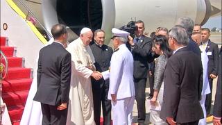 El papa Francisco llegó a Tailandia, primera etapa de gira asiática