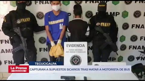 Capturan a supuestos sicarios tras matar a motorista de bus en Tegucigalpa