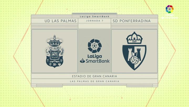LaLiga SmartBank (J7): Resumen y goles del Las Palmas 2-1 Ponferradina