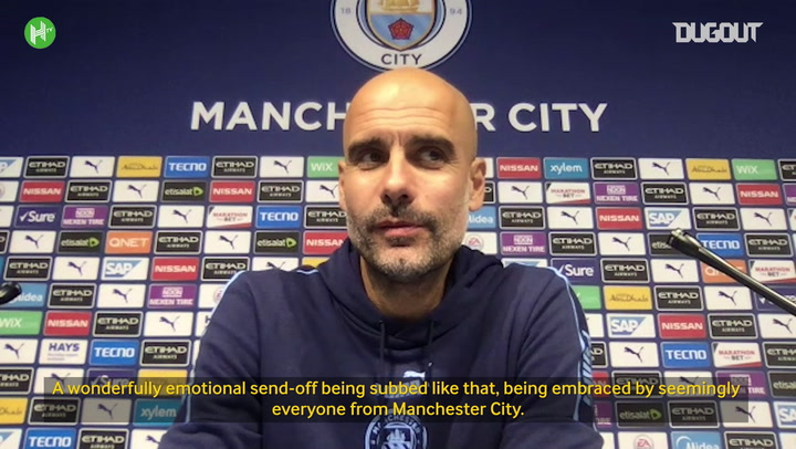 Guardiola: We just wanted to thank David Silva for what he's done