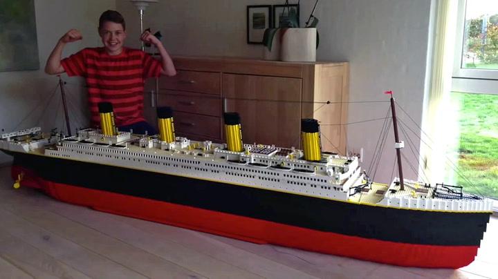 Sjekk Lasses imponerende Titanic-kopi