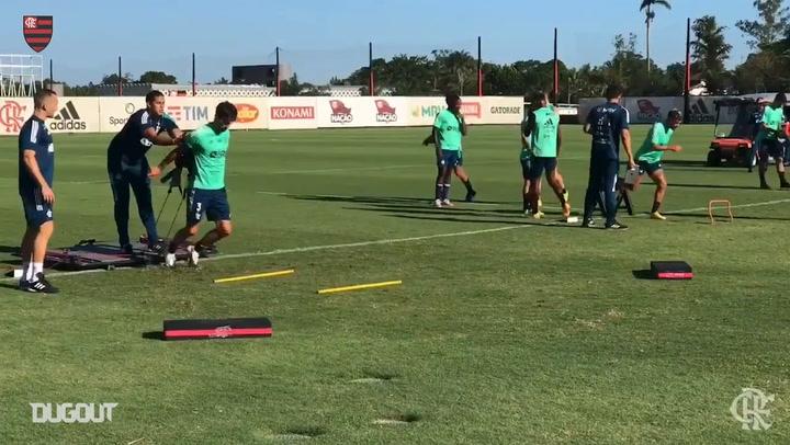 Flamengo: Rodrigo Caio and Pedro work hard to return to the games